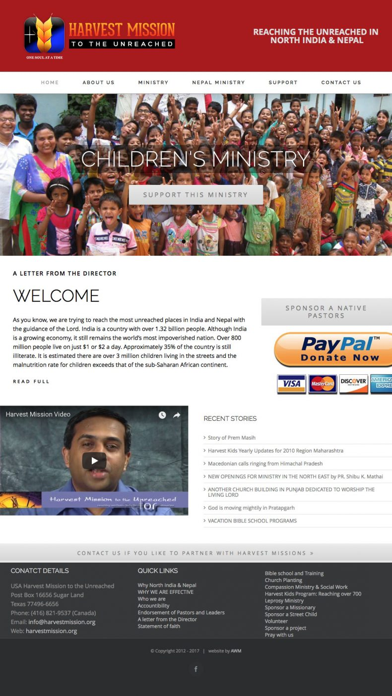 Harvest Mission to the Unreached – Harvest Mission to the Unreached