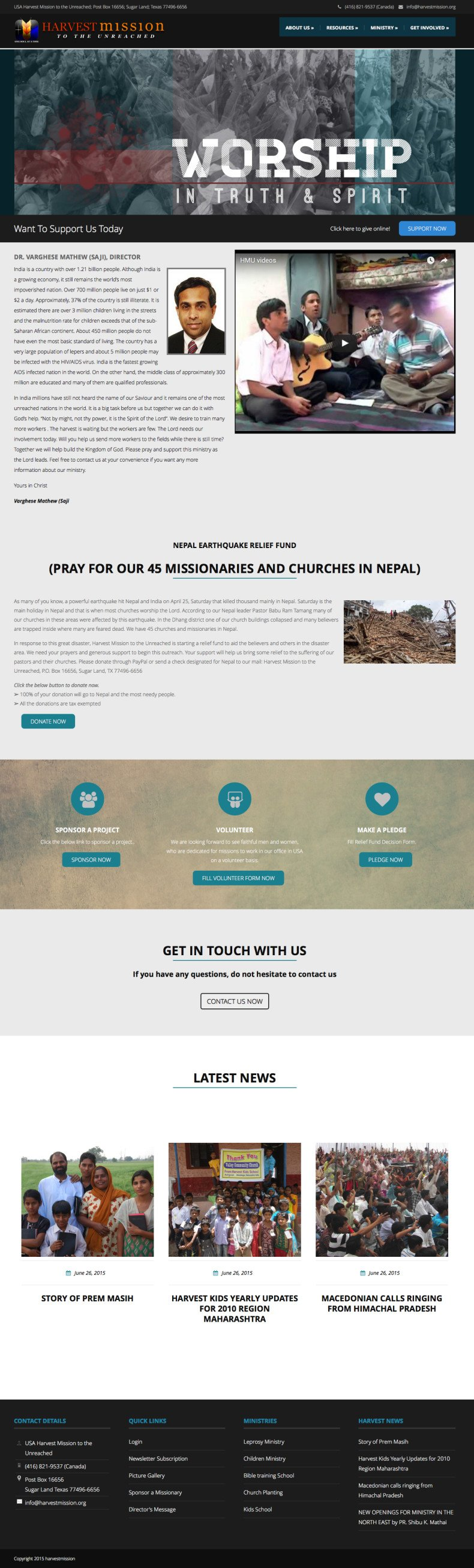 harvestmission | Harvest Mission to the Unreached