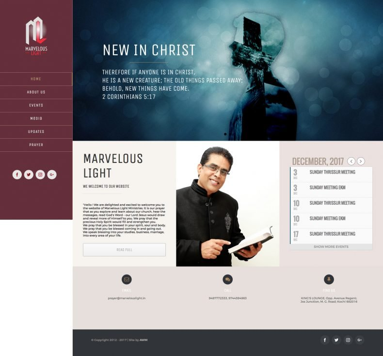 Marvelous Light – Manu Menon Ministries